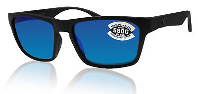 Costa Del Mar Hinano Blackout Frame Blue Mirror W580 Glass Polarized (W580 Costa)