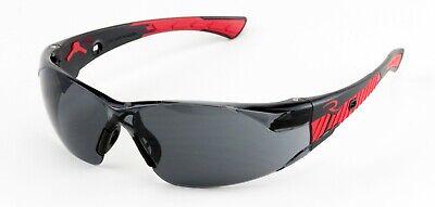 Radians Obliterator Smokegray Lens Blackred Safety Glasses Sunglasses Z87