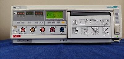 Hp Viridia Series 50 Xm Fetal Baby Monitor W Cards M1350-66506 M1350-66513