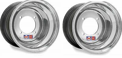 """DWT Polished ATV Rear Wheels Rims PAIR 8/"""" 8x8  Honda 450R 400EX 250R 350X 200X"""