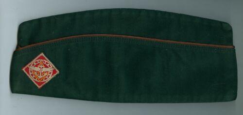 EXCELLENT 1950s Official Boy Scout Explorer Dk Grn Field Hat - SIZE EXTRA LARGE