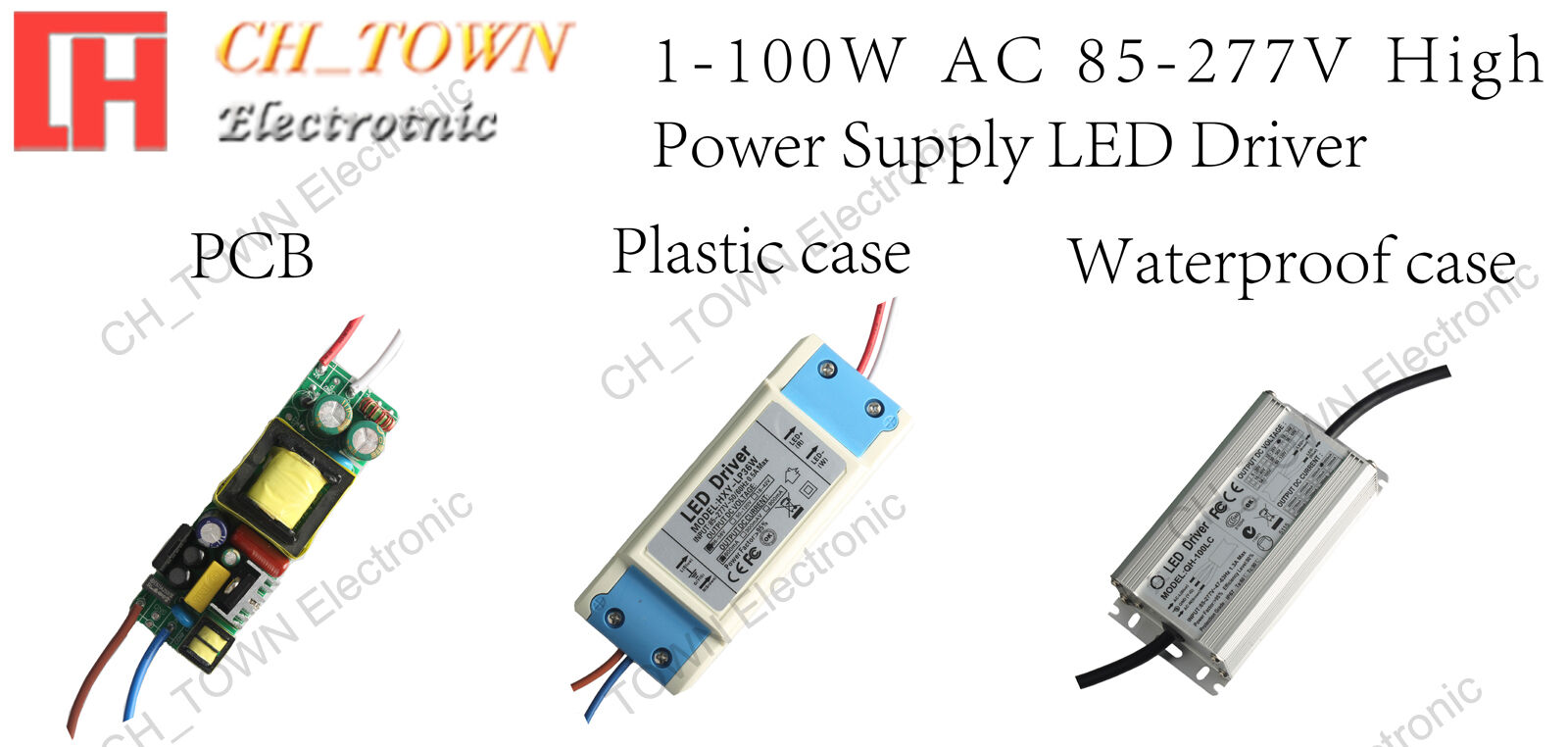 High Power Supply 3W 10W 20W 30W 50W 100W Constant Current COB Chip LED Driver