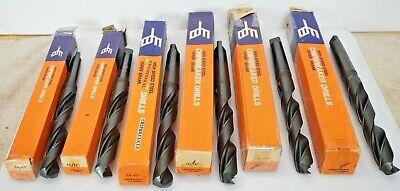 Lot Of 6 New Morse Taper Drill Bits F B Tool Speedicut 2932 - 1
