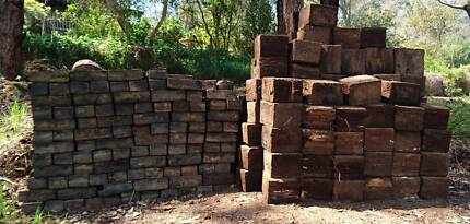 Jarrah blocks - ALL BIG ONES GONE, ONLY SMALL SIZED BLOCKS LEFT
