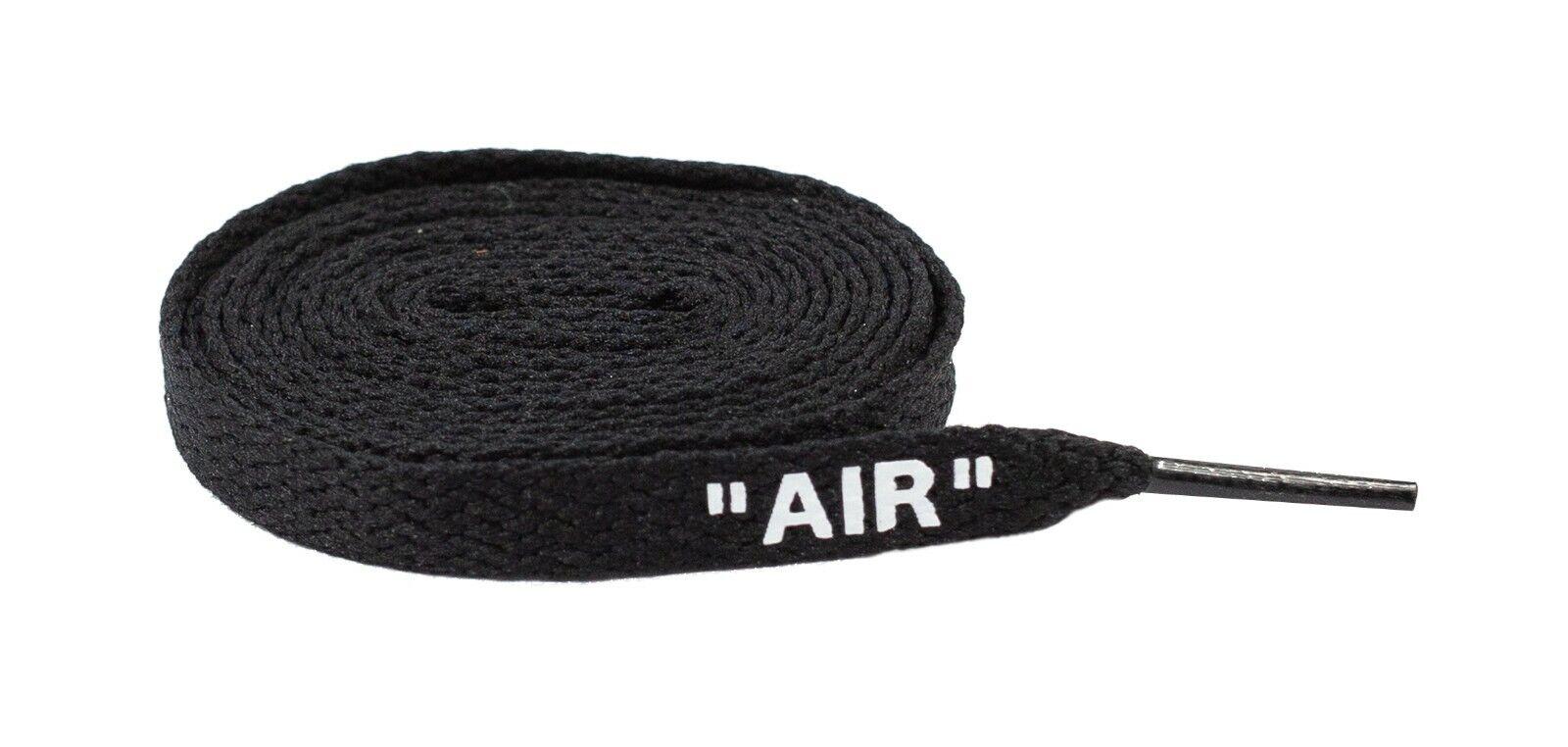 "Premium Flat Sneaker Laces ""Air"" Off White Shoe laces In Black White Lace Envy Clothing & Shoe Care"