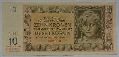 Deutsches Reich (Böhmen und Mähren) 10 Kronen  1942
