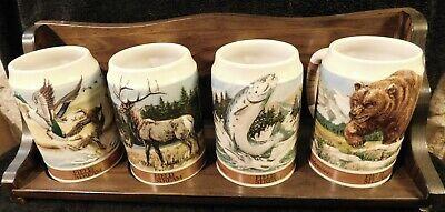 1988 Anheuser-Busch Budweiser Field & Stream Stein Wildlife Series W/ Shelf Mug
