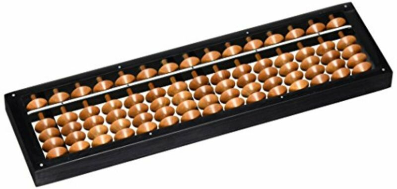 Japanese Abacus Soroban by Tomoe 15 Digits Birch Ball Japan Standard Small F/S