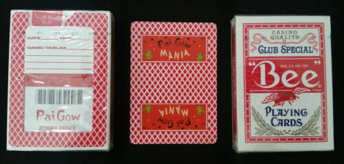 1 DECK Pai Gow Mania Game Red Bee Playing cards, New & Sealed