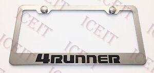TOYOTA 4Runner Stainless Steel License Plate Frame Rust Free W/ Bolt Caps