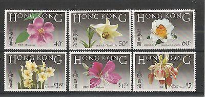 HONG KONG 1985 NATIVE FLOWERS SG, 497-502 U/M NH LOT 1597A