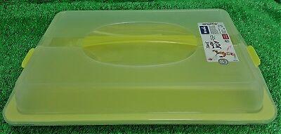 Rotho Partybutler flach Kuchenbox Transportbox grün/ transparent Kuchenbehälter