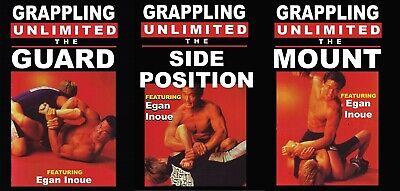 3 DVD SET  Grappling Unlimited Brazilian Jiu Jitsu MMA Grappling Egan Inoue