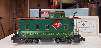 Aristocraft G Scale REA - 42105 Long Steel Caboose Lighted Smokes New In Box
