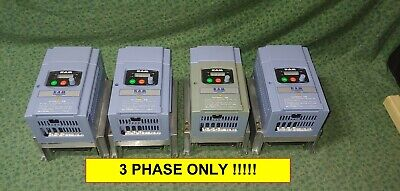 Four 3 Hp Hitachi Vfd 3 Phase Variable Frequency Drive L100022hfu 27737-d2