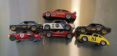 Hot Wheels Lot of 7 Real Rider Race Cars Ford Porsche Bmw Alfa Mercedes