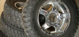 """37x12.50x20"""" tires and 20"""" 8 hole chev rims"""