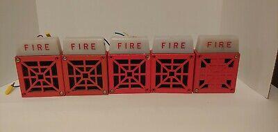 Wheelock 34-24-ws Strobe Blue Red Horn 24vdc Fire Alarm Rare Fire Alarms