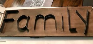 Wood and metal  sign -FAMILY