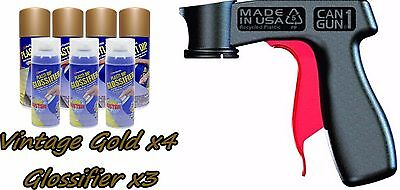Performix Plasti Dip Gloss Wheel Kit 4 Vintage Gold 3 Glossifier Cans V-grip