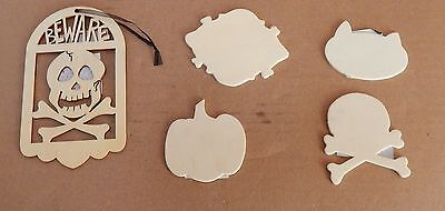 Halloween Art Minds Simple Shapes Cat Skull & Cross Bones Pumpkin 2