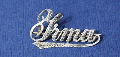 broche ancienne vintage prénom Yrma en argent 800  silver
