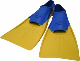 JPL kids swimming fins swim fins.orange and Blue size 12-1.5 30-33 quality easy fit and comfy
