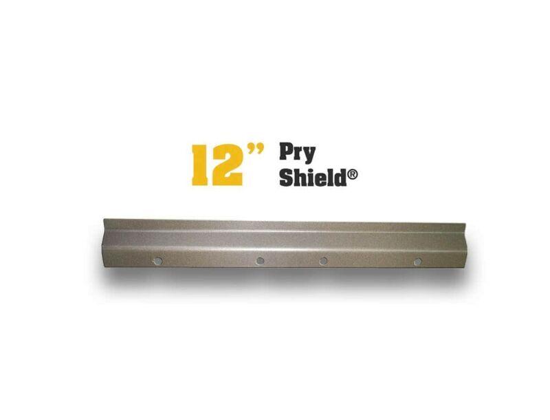 Pair Of WHITE Door Armor Pry Shield Door Security Reinforcement Kit & Hardware
