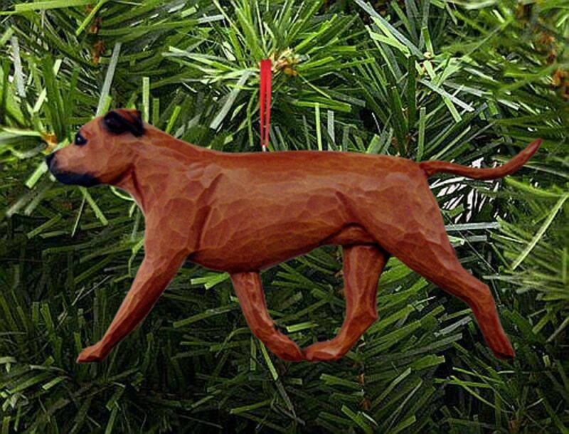 American Staffordshire Terrier Ornament Red