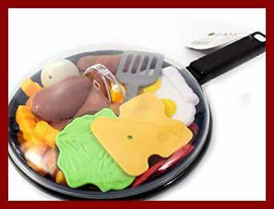 Fast Food Playset W Cooking Pan & Spatula 25 PC Kitchen Pretend Play Toy Set
