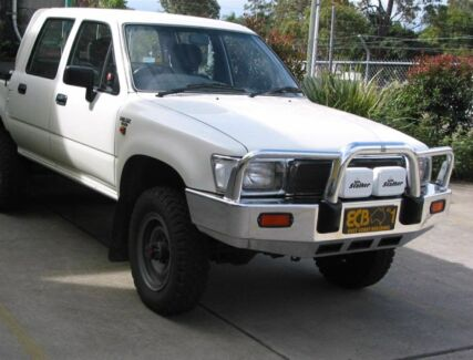 Toyota Hilux ecb polished alloy bullbar suit old shape hilux Lane Cove Lane Cove Area Preview