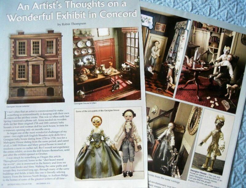 7p History Article -  Antique Queen Anne Doll Houses & Robin Thompson Dolls