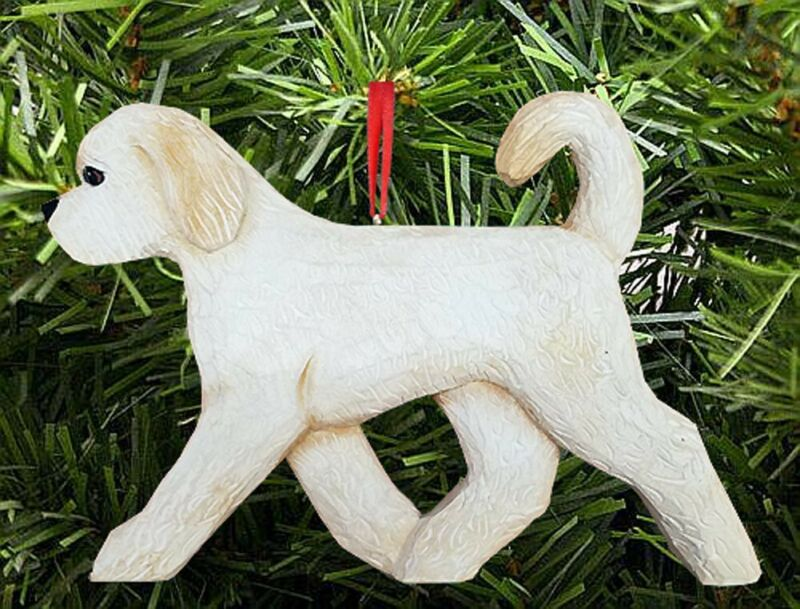 Goldendoodle Ornament Cream
