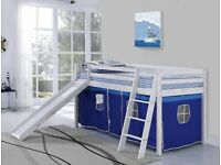new bed with ladder and slide