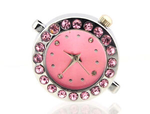 Stainless steel quartz watch faces 8 colours for shamball watch bracelets