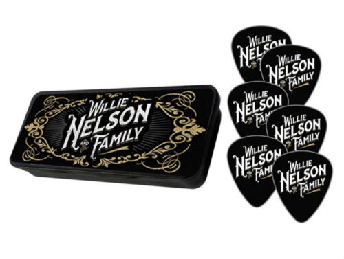 Willie Nelson and Family Logo Guitar Pick w/ Tin Case