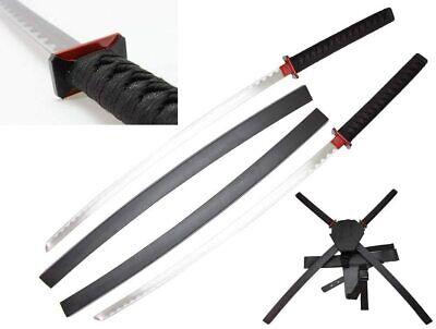 """40"""" Deadpool Twin Ninja Metal Blade Samurai Sword Set Cosplay Costume Prop Gift"""