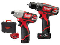 MILWAUKEE 12V PERCUSSION DRILL&IMPACT DRIVE