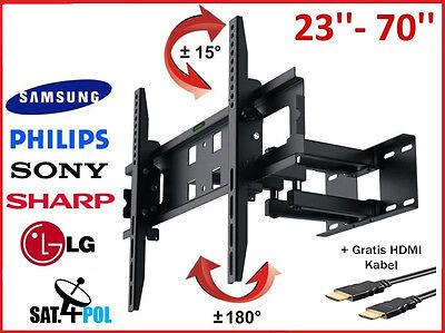 TV Halterung Hammer LED LCD PLASMA Wandhalterung Schwenkbar 23   70 Zoll.