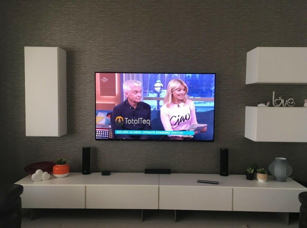 Tv Wall Mounting Lcd Tv Sound Bar Sky Cabling Professional