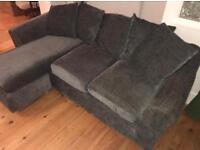 Grey Corner / L Shape Sofa - £150