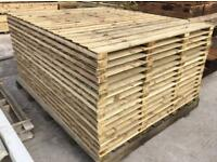 🍭Flat Top Feather Edge Fence Panels * New