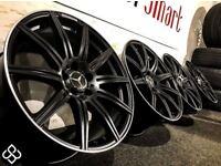 "BRAND NEW MERCEDES 19"" AMG STYLE ALLOY WHEELS- 5x112-MATTE BLACK WITH DIAMOND CUT FINISH-Wheel Smart"