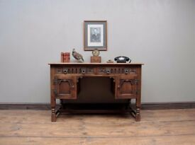 Old Charm Leather Topped Writing Desk