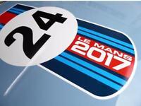 LE MANS 24 HOUR 2017 BONNET adhesive sticker decal