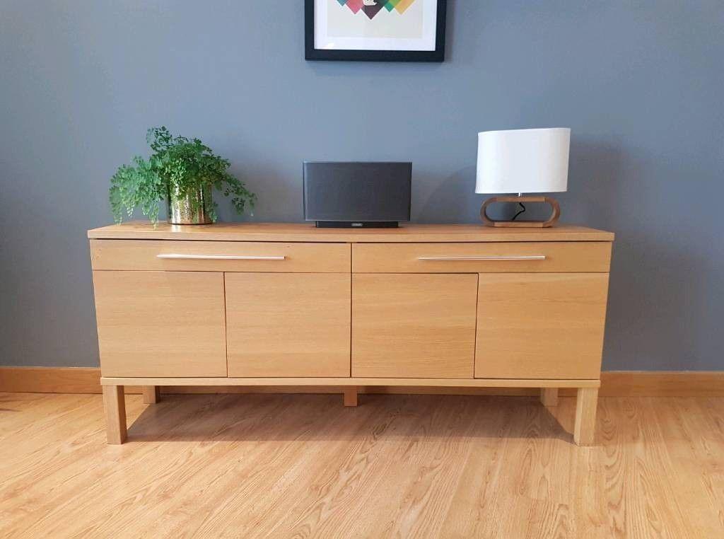 Ikea Bjursta Oak Veneer Sideboard In Headington