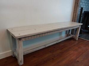 "ON SALE! Solid Wood Farmhouse 70"" Bench - 50% Off. By LIKEN Woodworks"