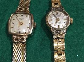 2 x Vintage Rotary Watches