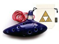 12 hole ocarina - Legend of Zelda theme, w/ song booklet - very good condition