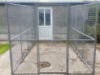 4m x 2m Lean To Galvanised Dog Run with Kennel